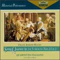 Franz Joseph Haydn: String Quartets Op. 3 No. 5, Op. 64 No. 6, Op. 76 Nos. 2 & 3 von Various Artists