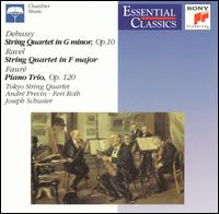 Debussy: String Quartet in G minor; String Quartet in F major; Piano Trio von Tokyo String Quartet