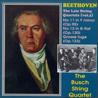 Beethoven: The Late String Quartets, Vol. 3 von Various Artists