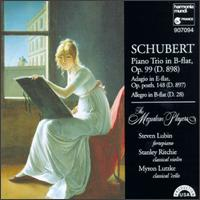 Schubert: Piano Trio in B flat, Op. 99; Adagio in E flat; Allegro in B flat von Mozartean Players