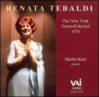The New York Farewell Recital, 1976 von Renata Tebaldi