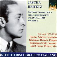 Jacha Heifetz Recordings from 1917-1946, Vol. 2 von Jascha Heifetz