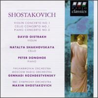 Shostakovich: Violin, Cello and Piano Concertos von Various Artists