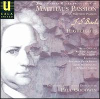 The Jonathan Miller Production of Bach's St. Matthew Passion (Highlights) von Paul Goodwin