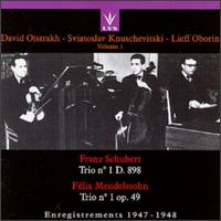 Schubert: Trio No. 1; Mendelssohn: Trio No. 1 von Various Artists
