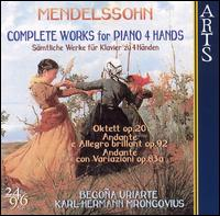 Mendelssohn: Complete Works for Piano 4 Hands von Various Artists