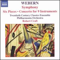 Webern: Symphony; Six Pieces; Concerto for 9 Instruments von Robert Craft