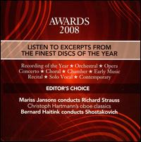 Gramophone Awards 2008 von Various Artists