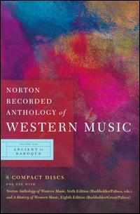 Norton Recorded Anthology of Western Music, Vol. 1: Ancient to Baroque von Various Artists